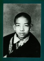 Traleg Rinpoche as a child in Sikkim
