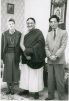 His Holiness Sakya Trinzen, Traleg Rinpoche and Student